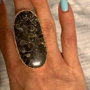 Charlene K Rose Gold Marble Ring